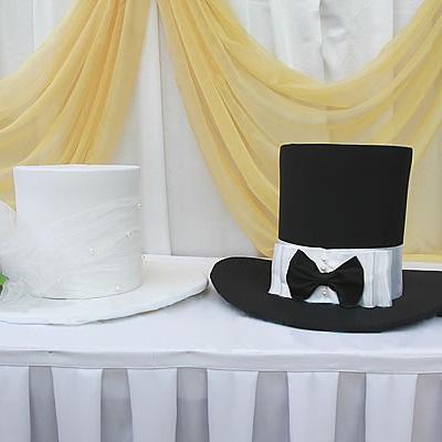 Свадебные шляпы на главную машину